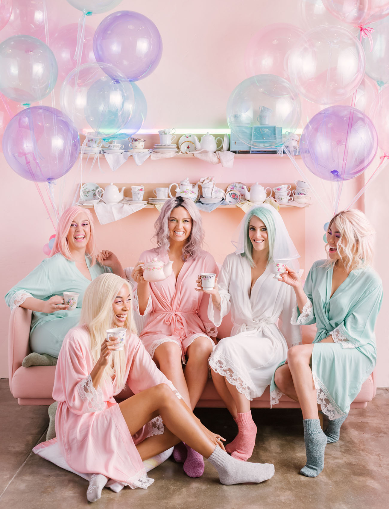 This Pastel Bridal Tea Party is Cotton-Candy Bubblegum-Pop Dreams!