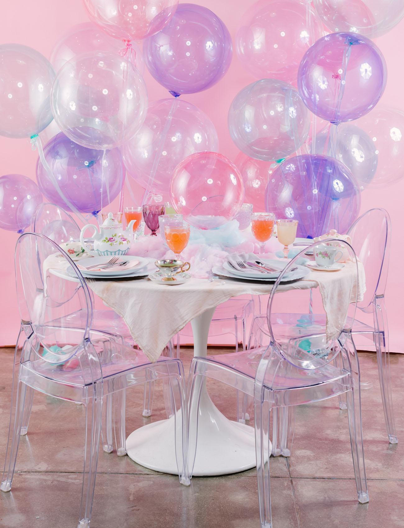 pastel balloon backdrop