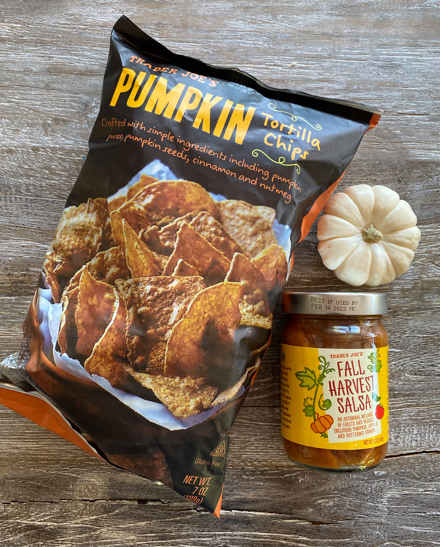 Trader Joe's Pumpkin Chips and Harvest Salsa