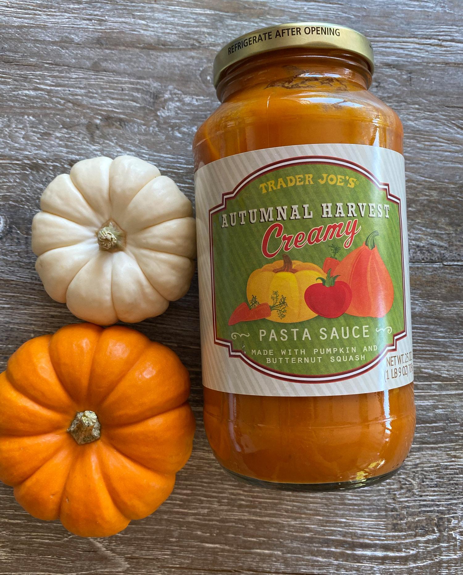 Trader Joe's pumpkin pasta sauce