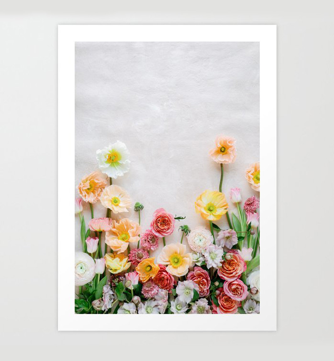 spring poppies print