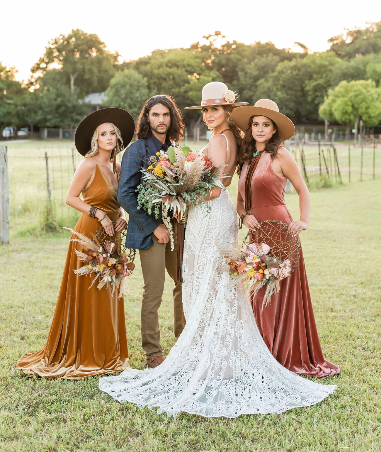 Texas Desert Wedding Inspiration with Western Boho Style