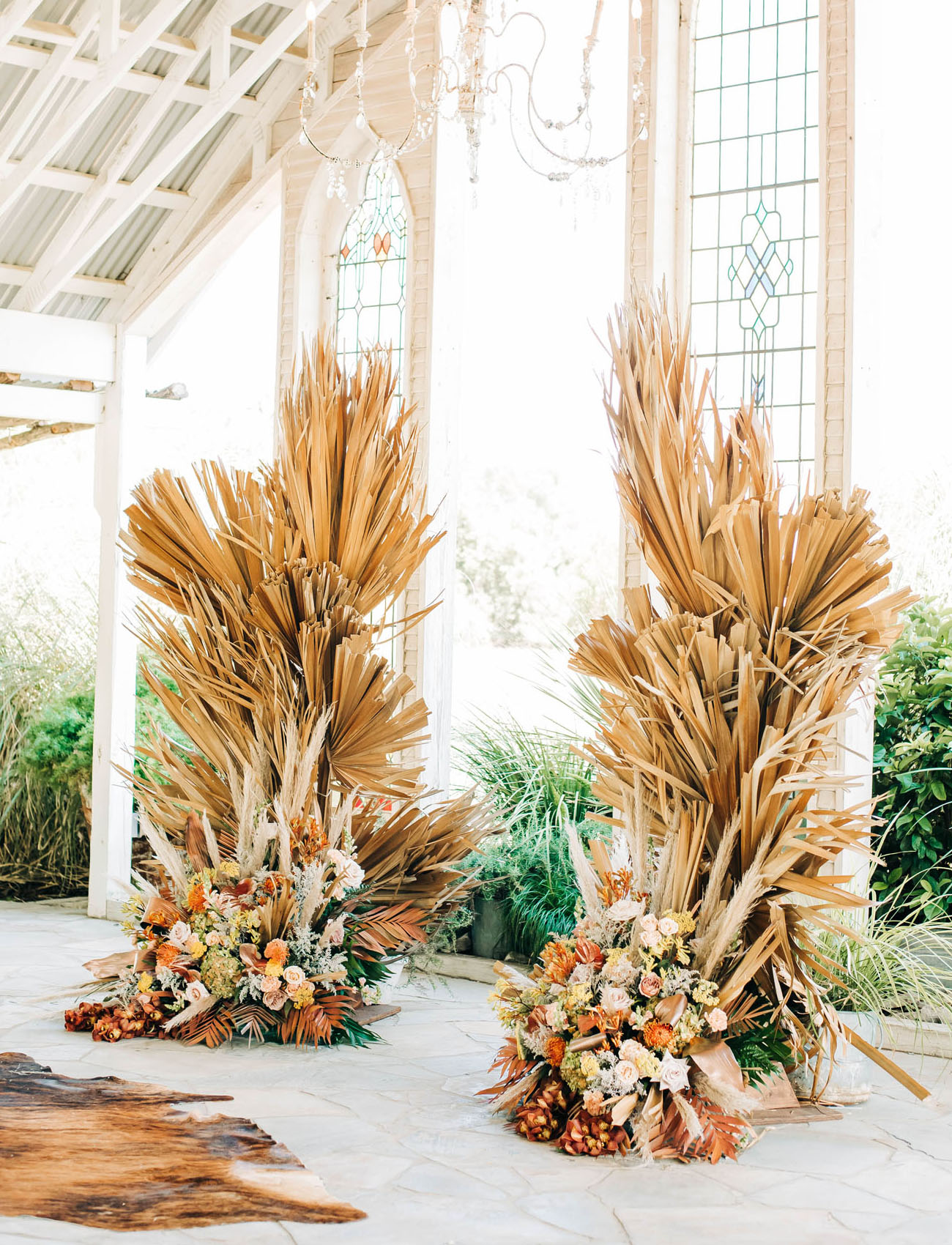 dried palm backdrop