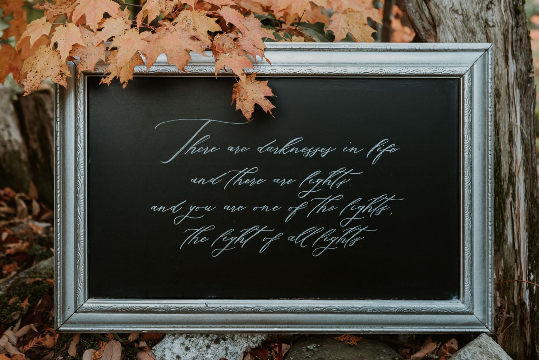 Kalligraphie an der Tafel