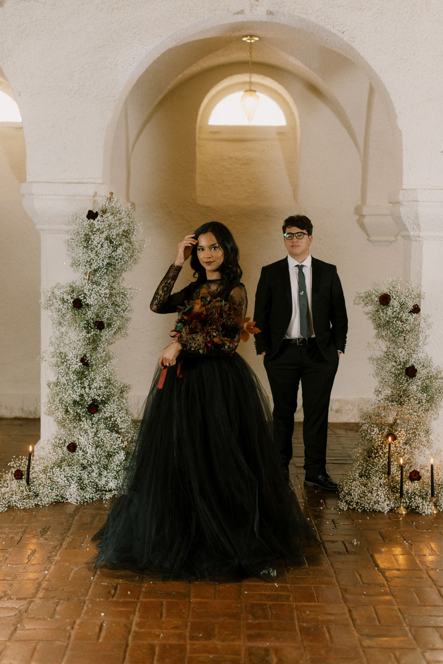Addams Family Inspired Wedding