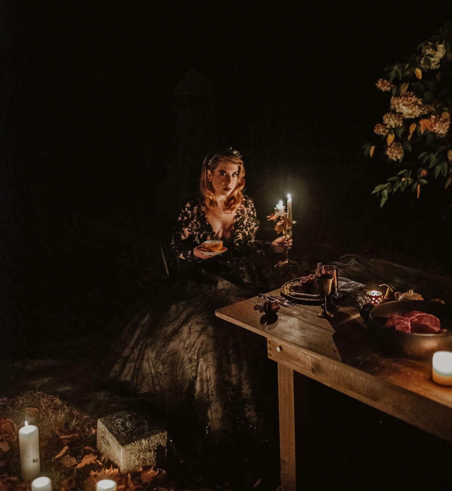Friedhof Halloween Hochzeit Inspiration