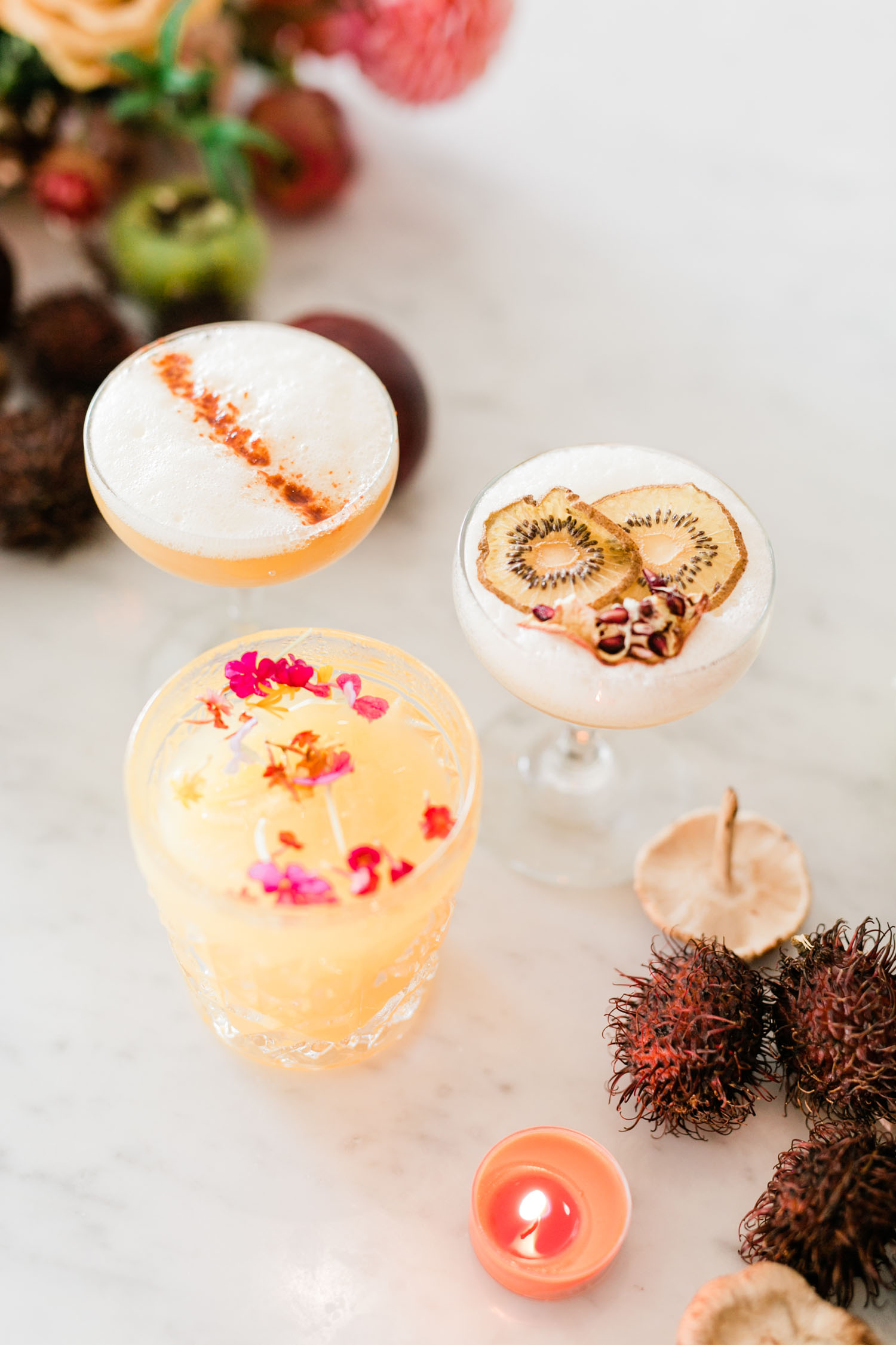 Fall wedding cocktails