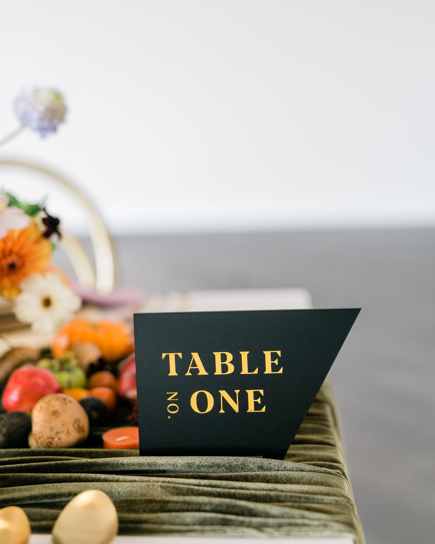 black table number
