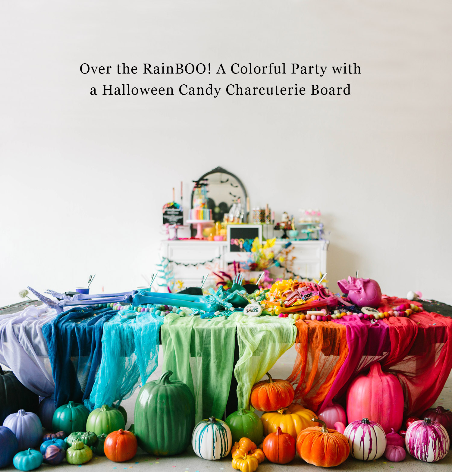 Colorful Halloween Party with Candy Board
