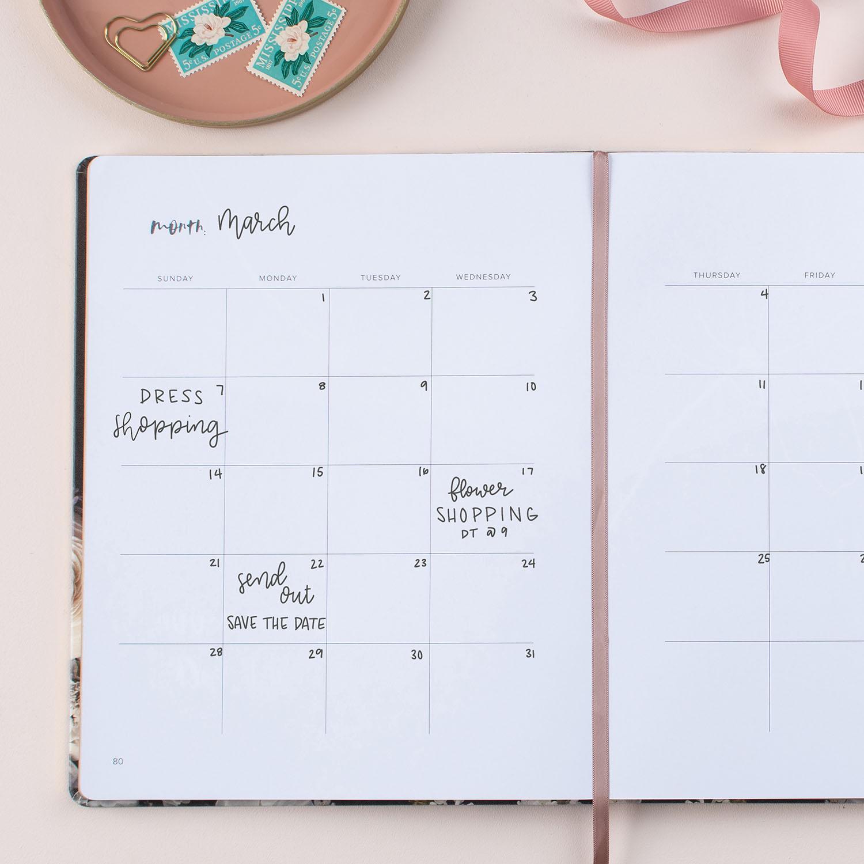 GWS x Erin Condren Wedding Planner - Calendar Page