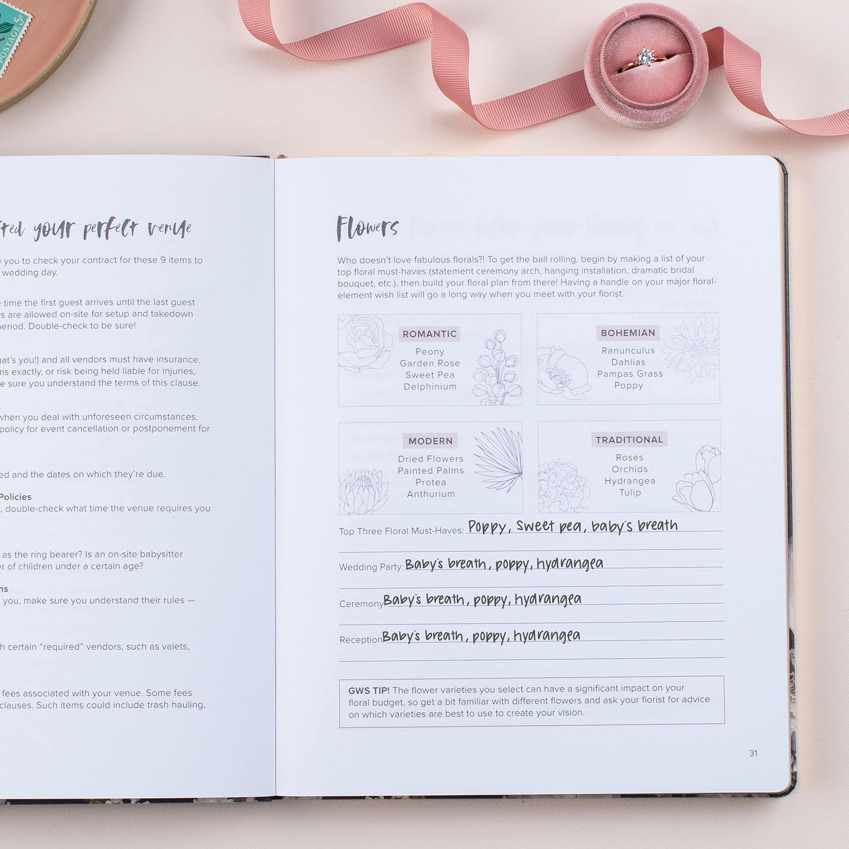 GWS x Erin Condren Wedding Planner - Flowers Page