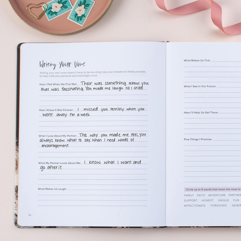 GWS x Erin Condren Wedding Planner - Vows Page