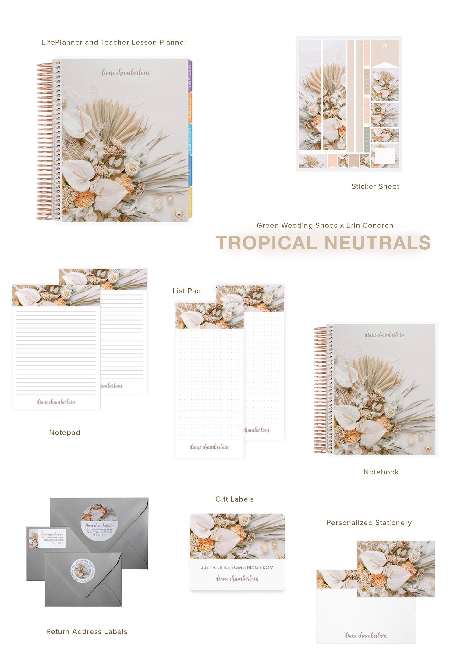 Tropical Neutrals LifePlanner