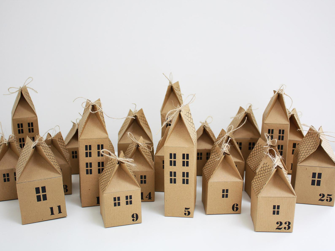 cardboard house advent DIY kit