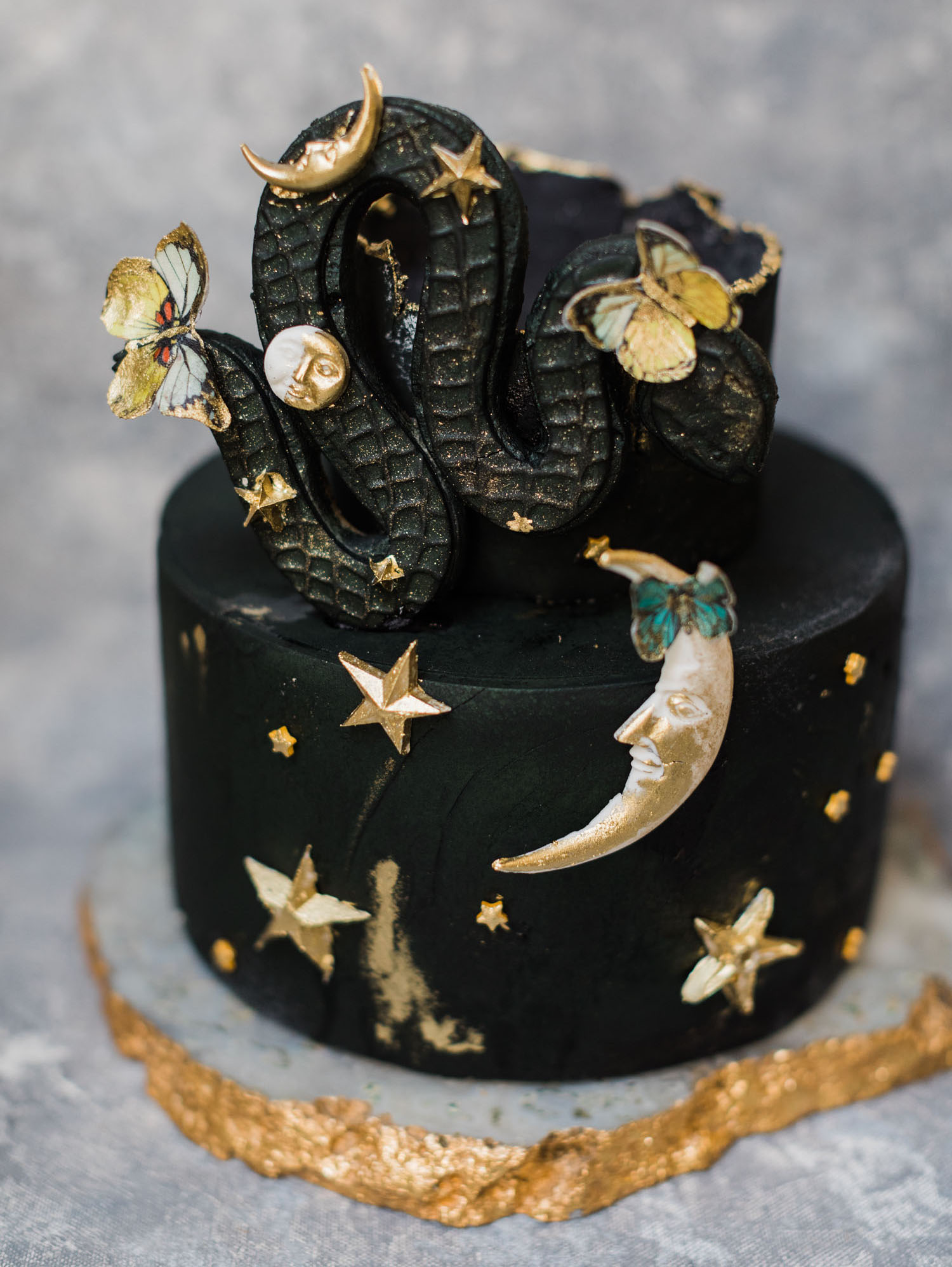 black celestial cake