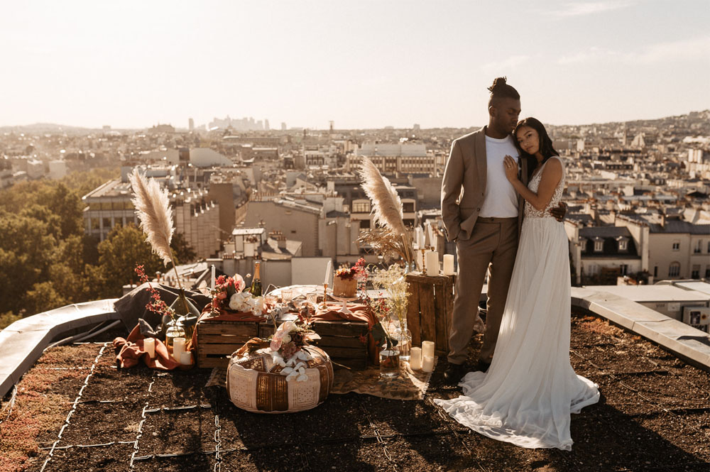 Paris Rooftop Elopement Inspiration