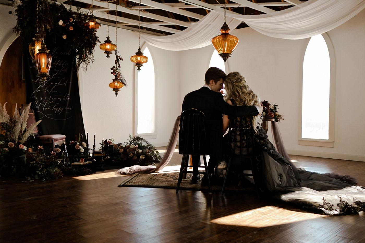 Dark and Romantic Wedding Inspiration