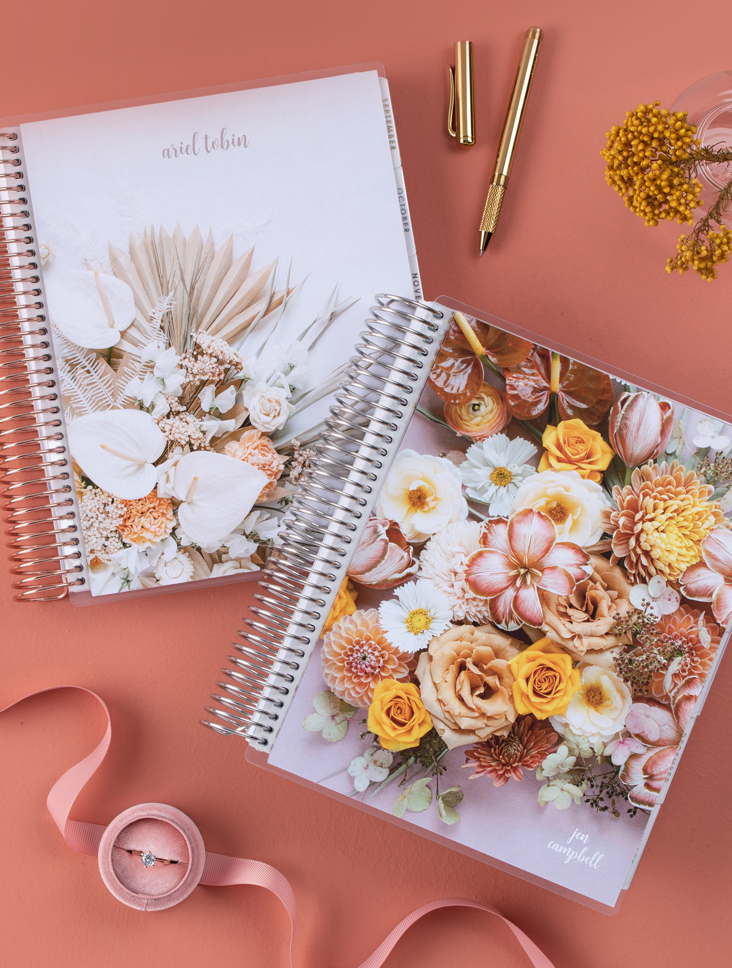 fall floral covers for LifePlanners