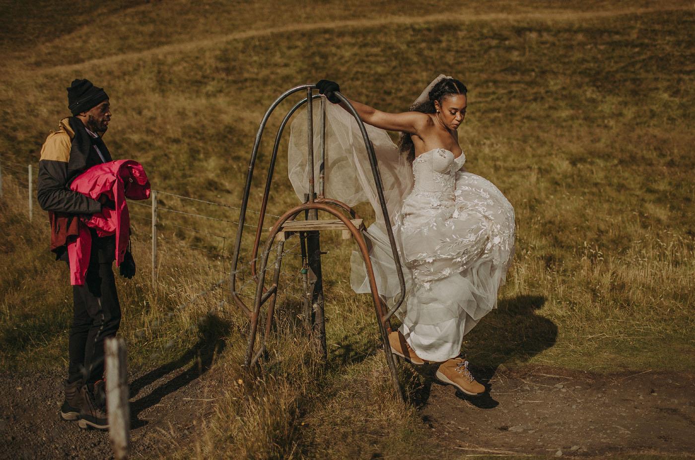 Stylish Iceland Wedding