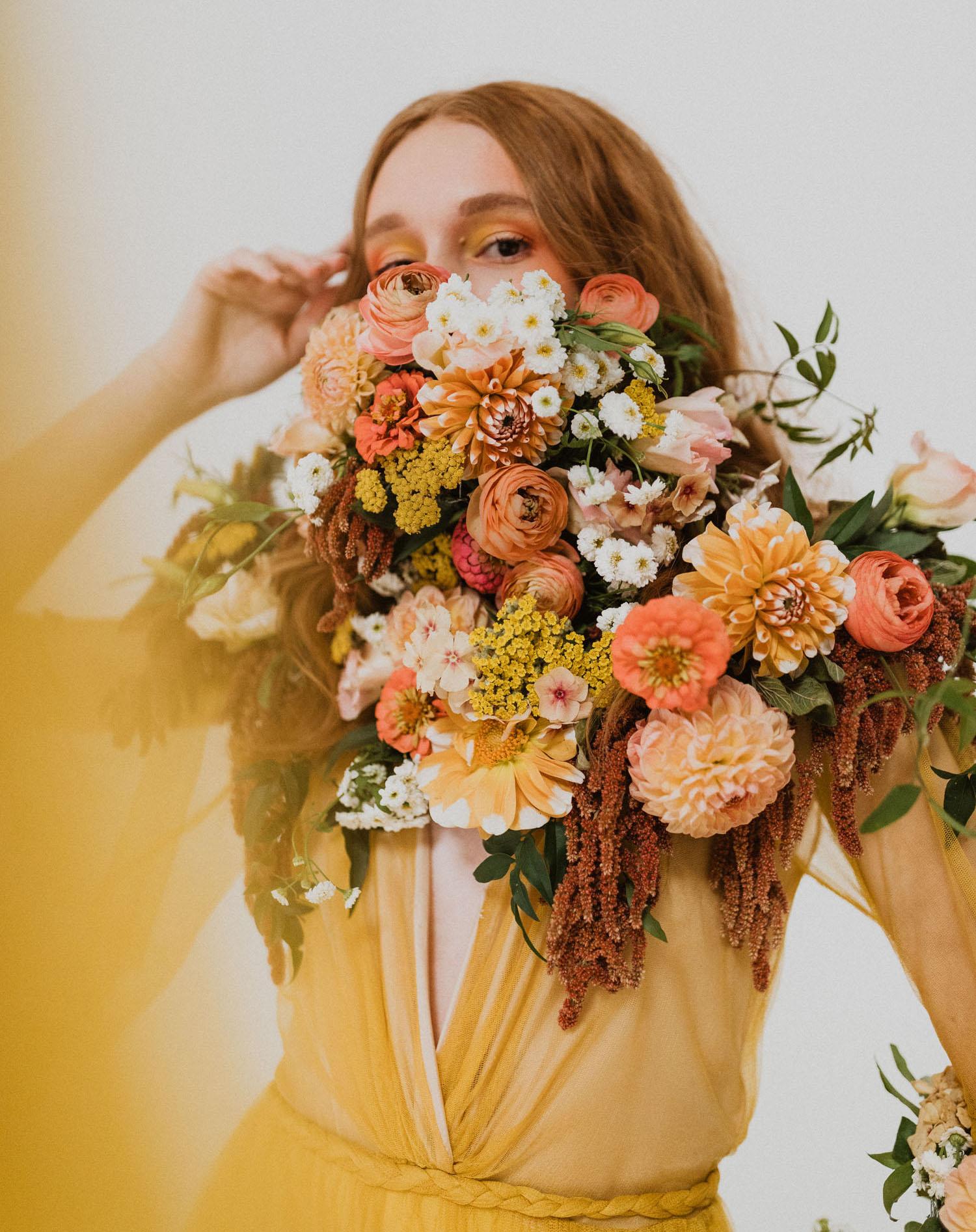 Flower Mask Wedding Inspiration