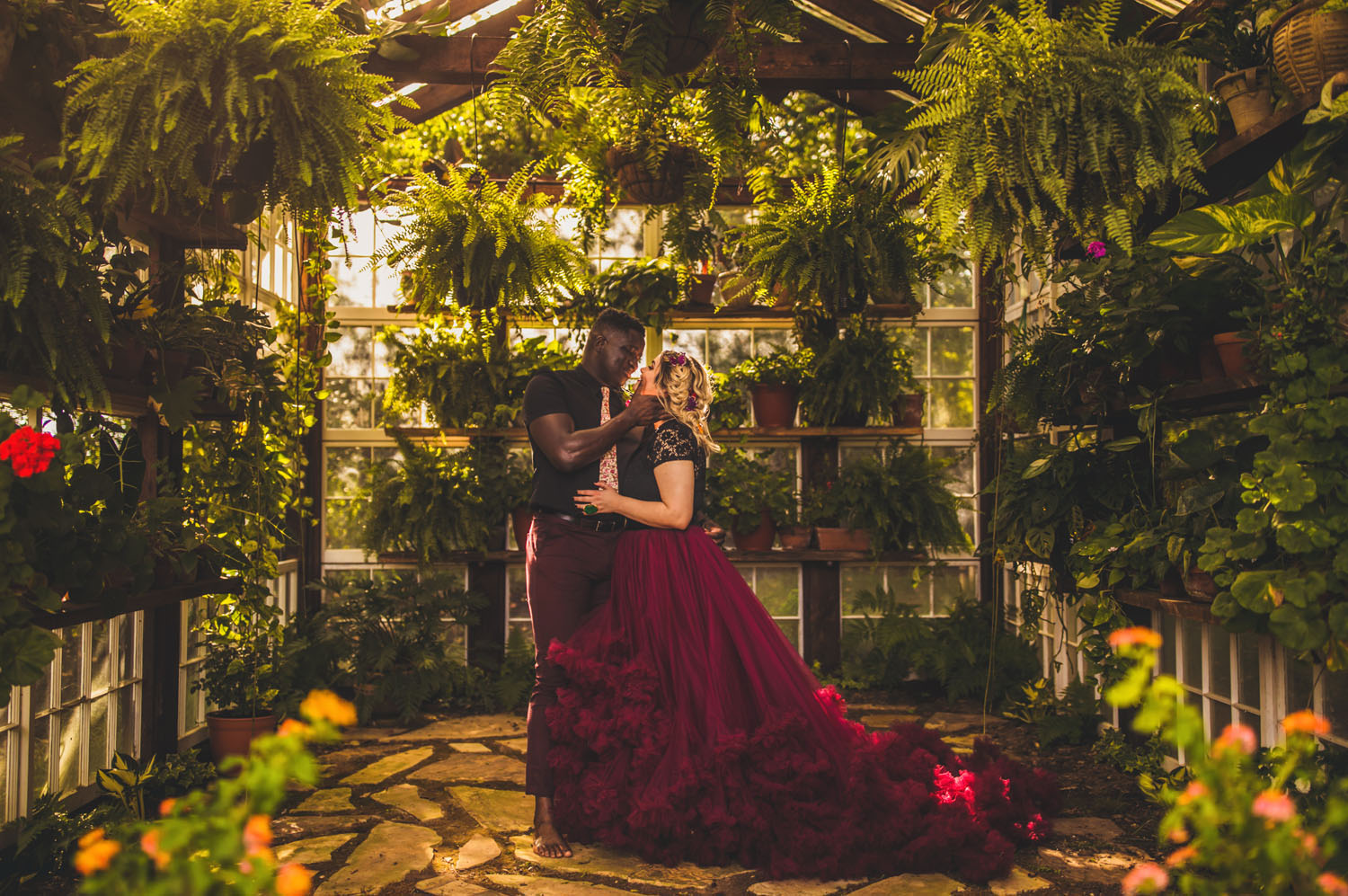 Jewel Toned Boho Greenhouse Wedding