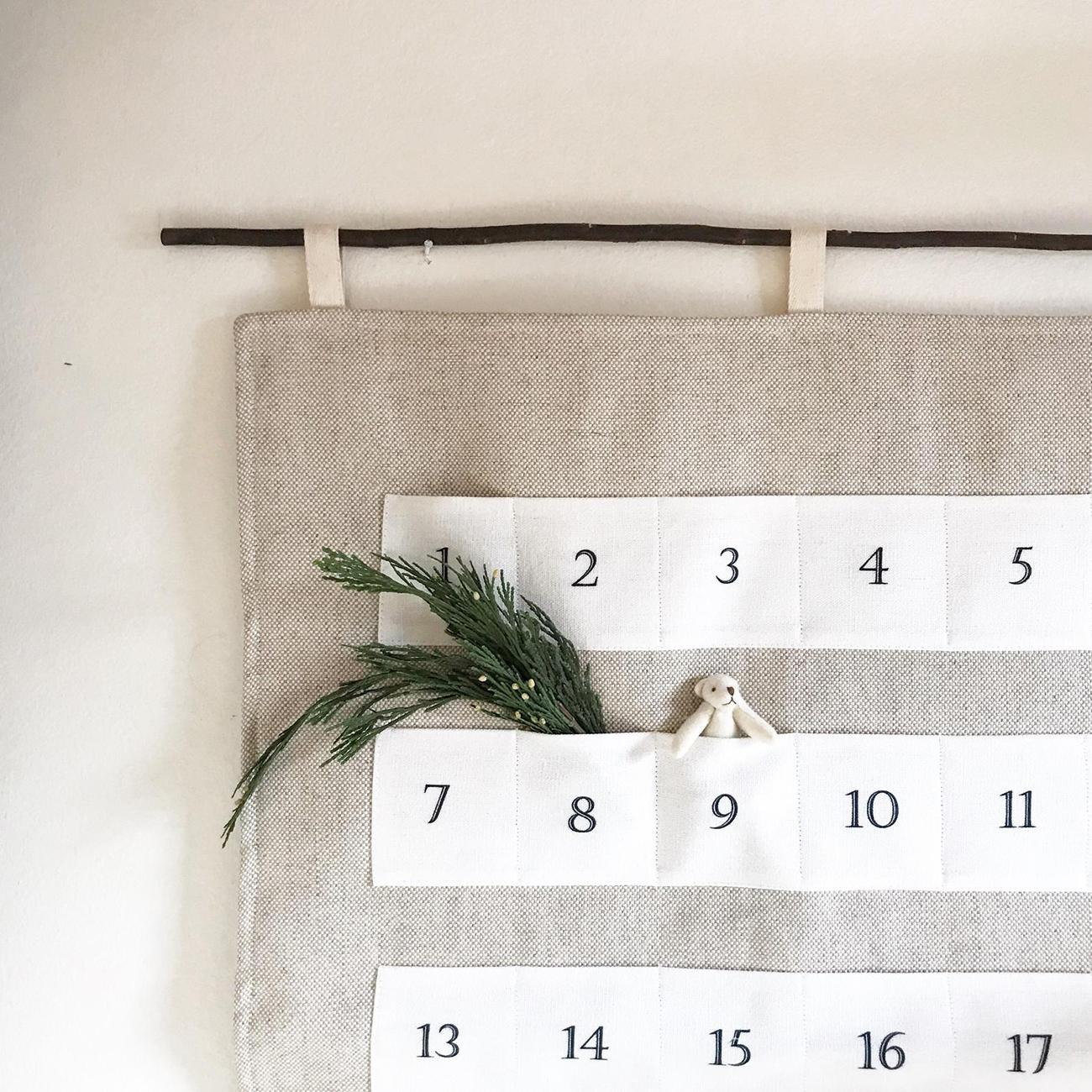 linen advent calendar