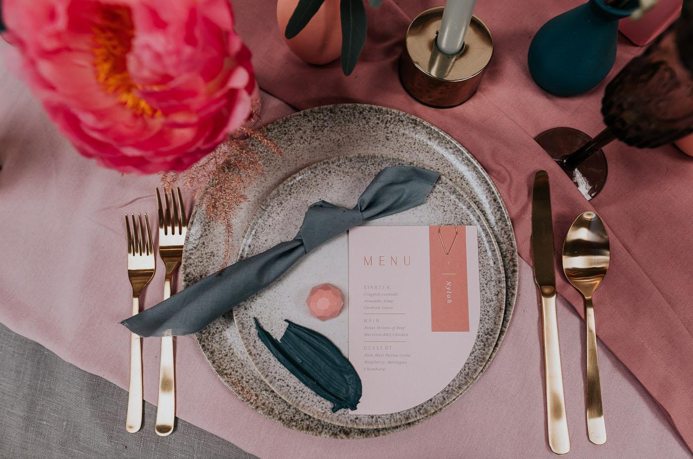 Modern colorful wedding inspiration