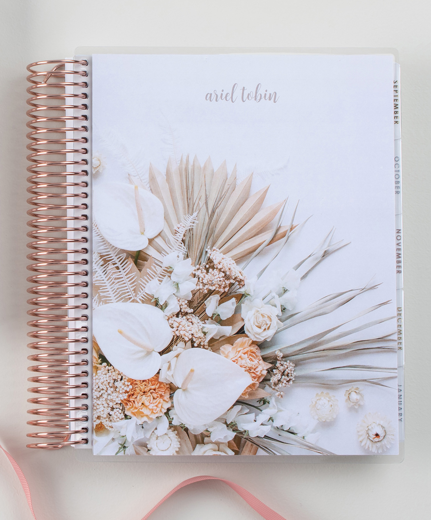 neutral tropical florals covers for LifePlanner