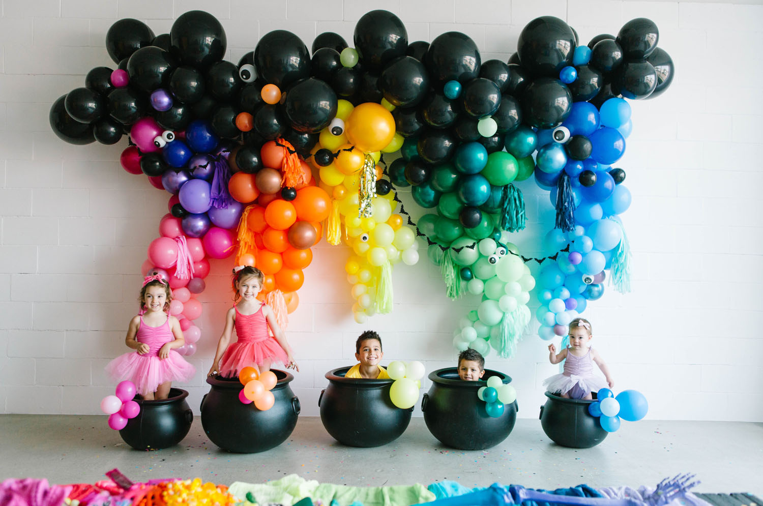 rainbow balloon wall