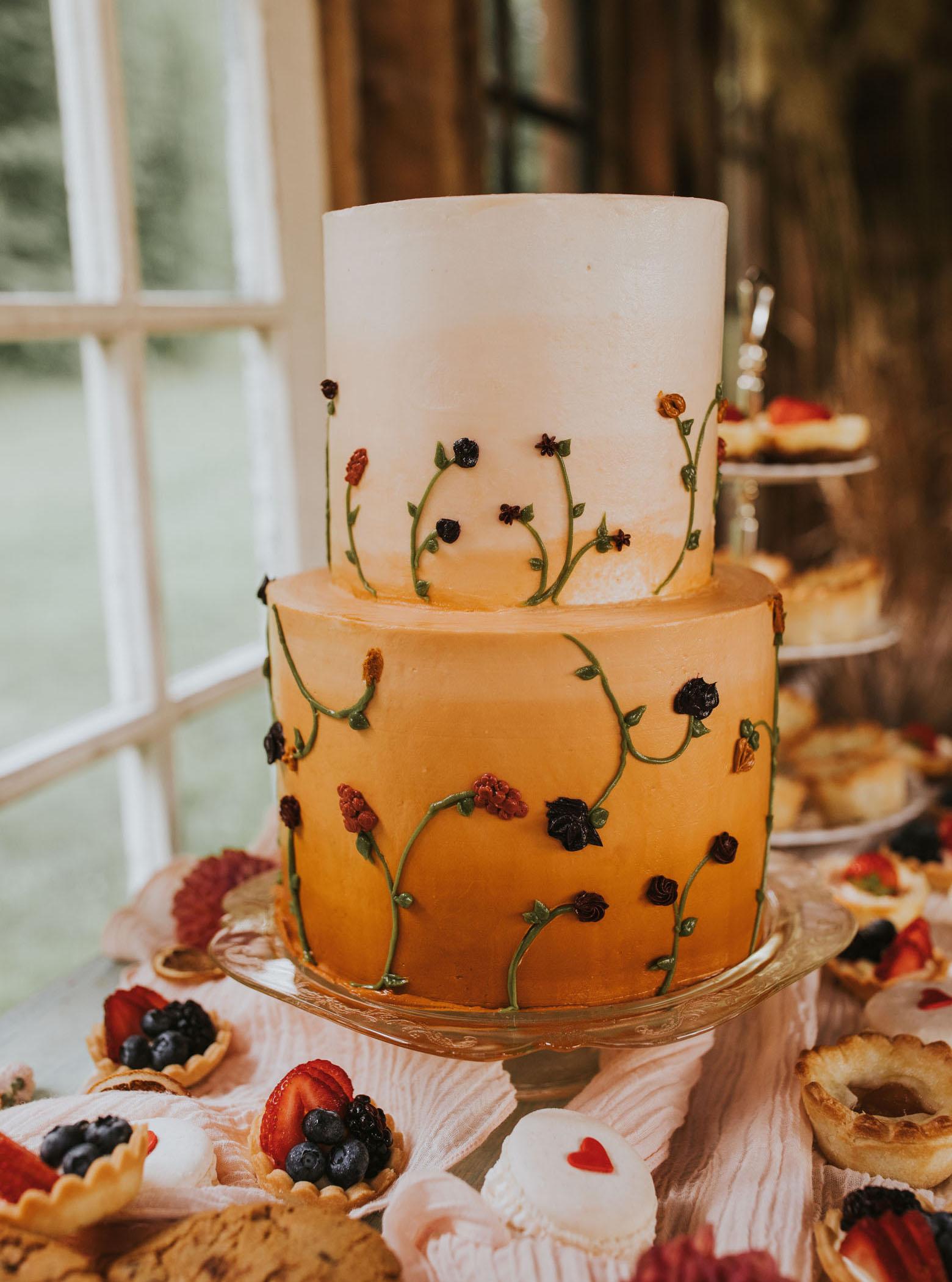 Orangen-Ombre-Kuchen