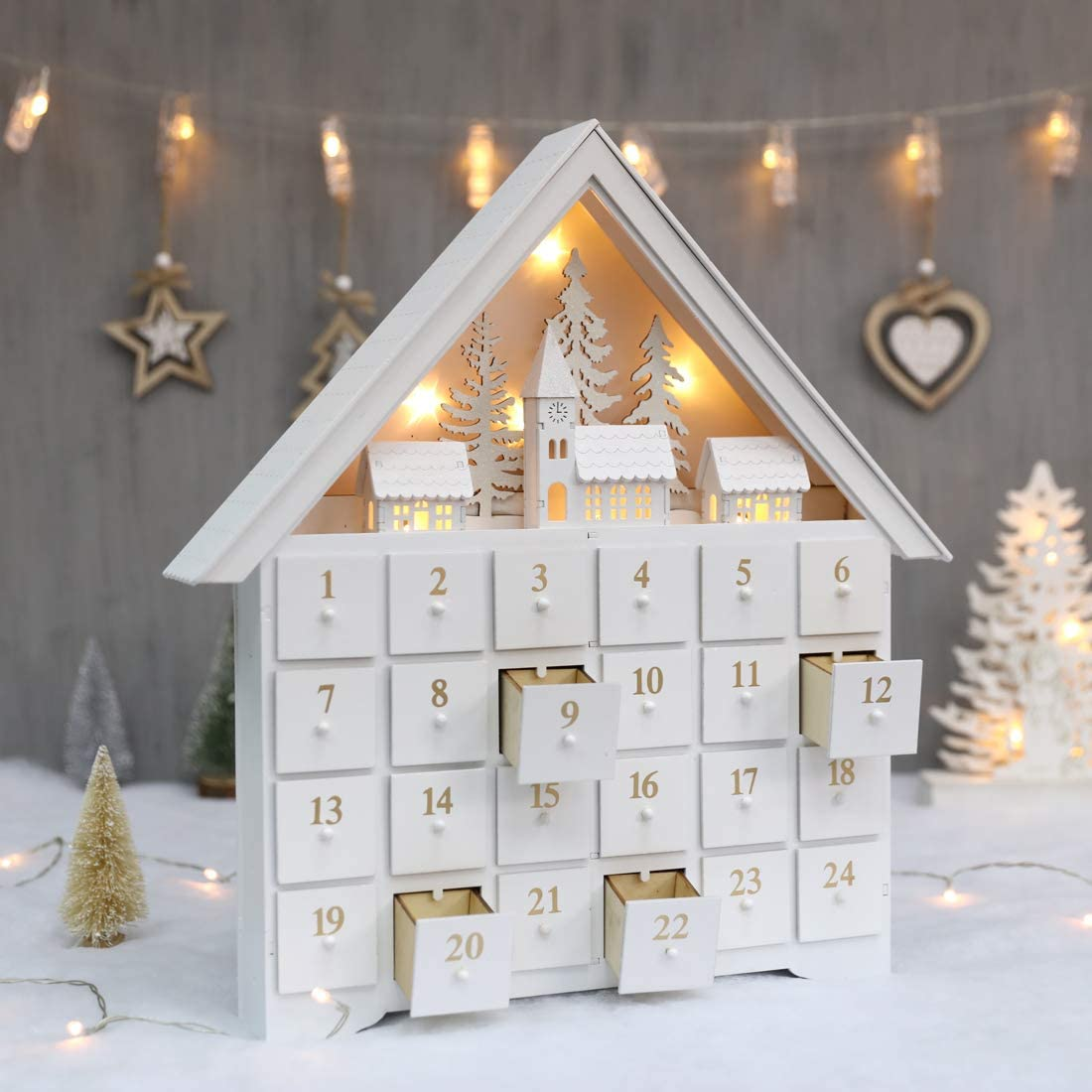 white advent calendar amazon