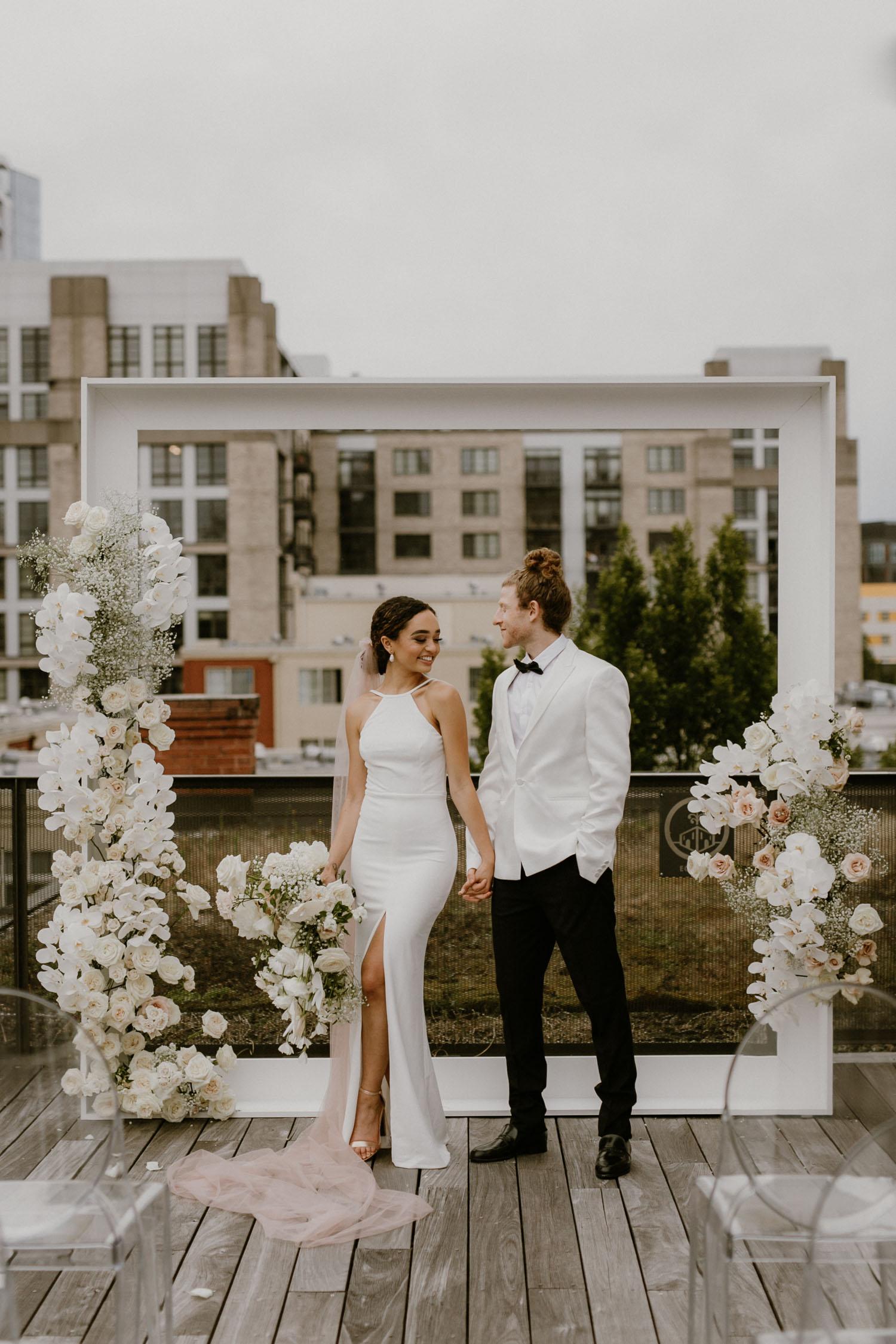 Modern Rooftop Wedding Inspiration