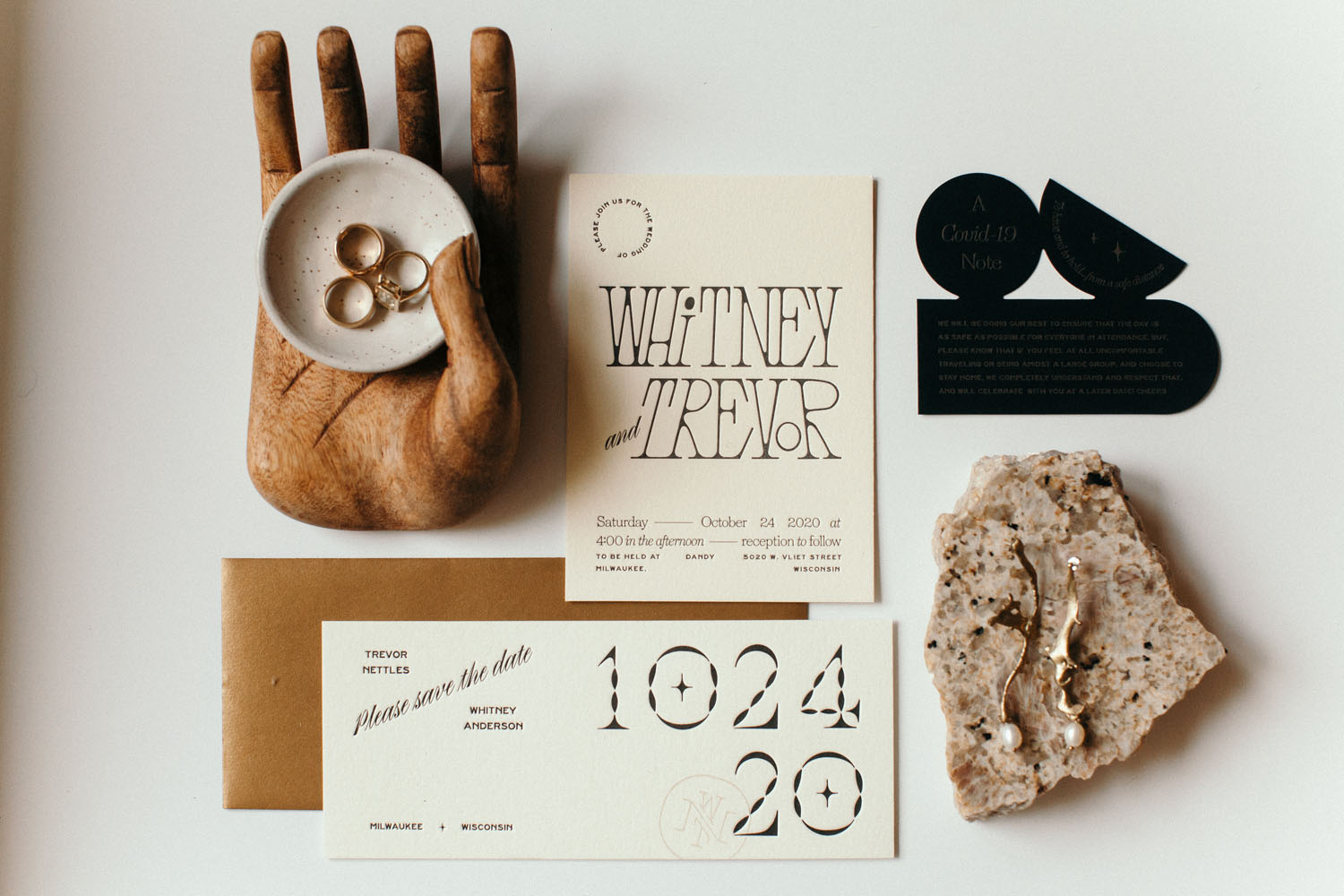 invitation flat lay