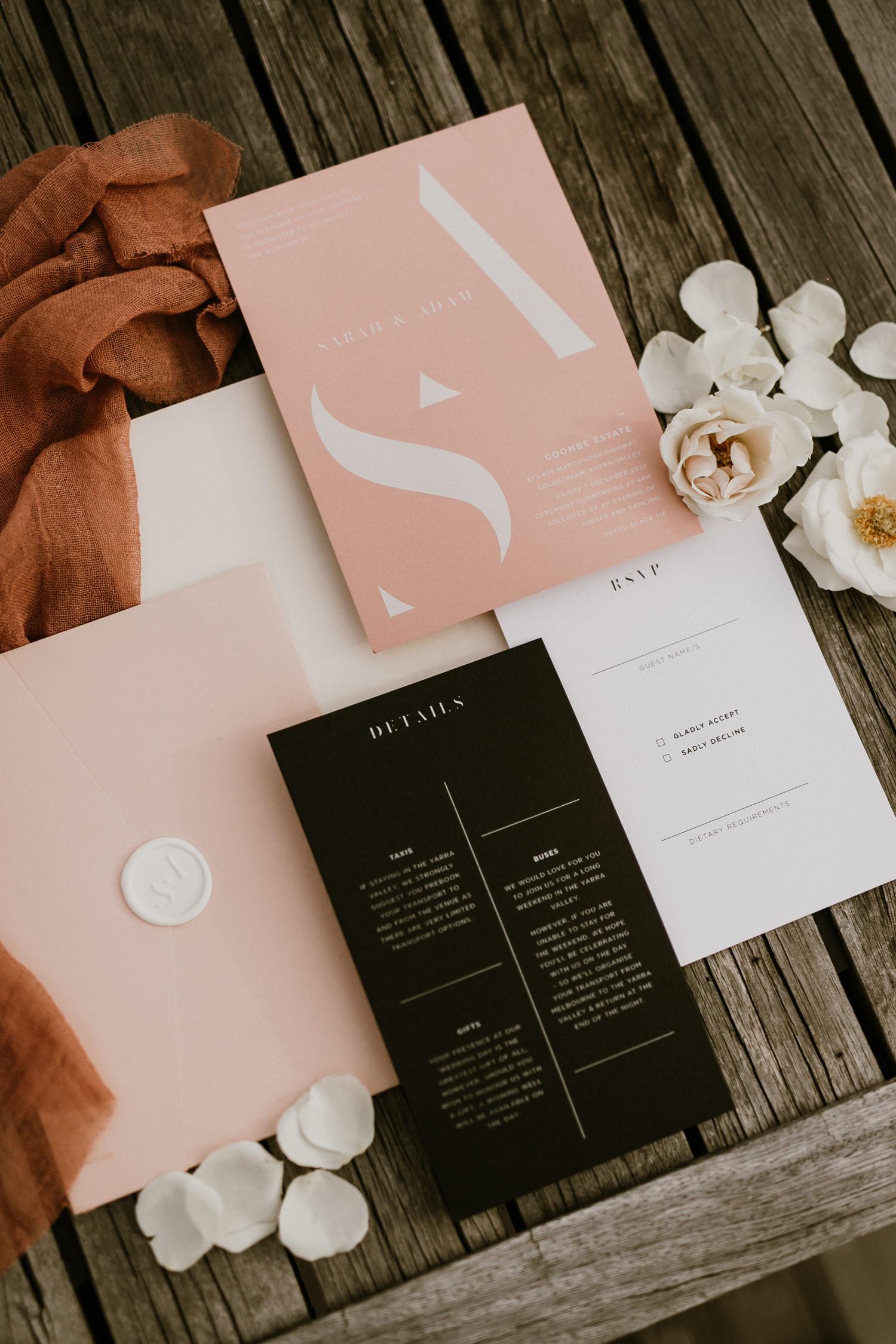 modern invitation suite