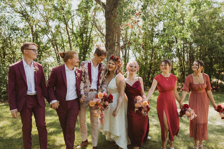 Burgundy Wedding Party