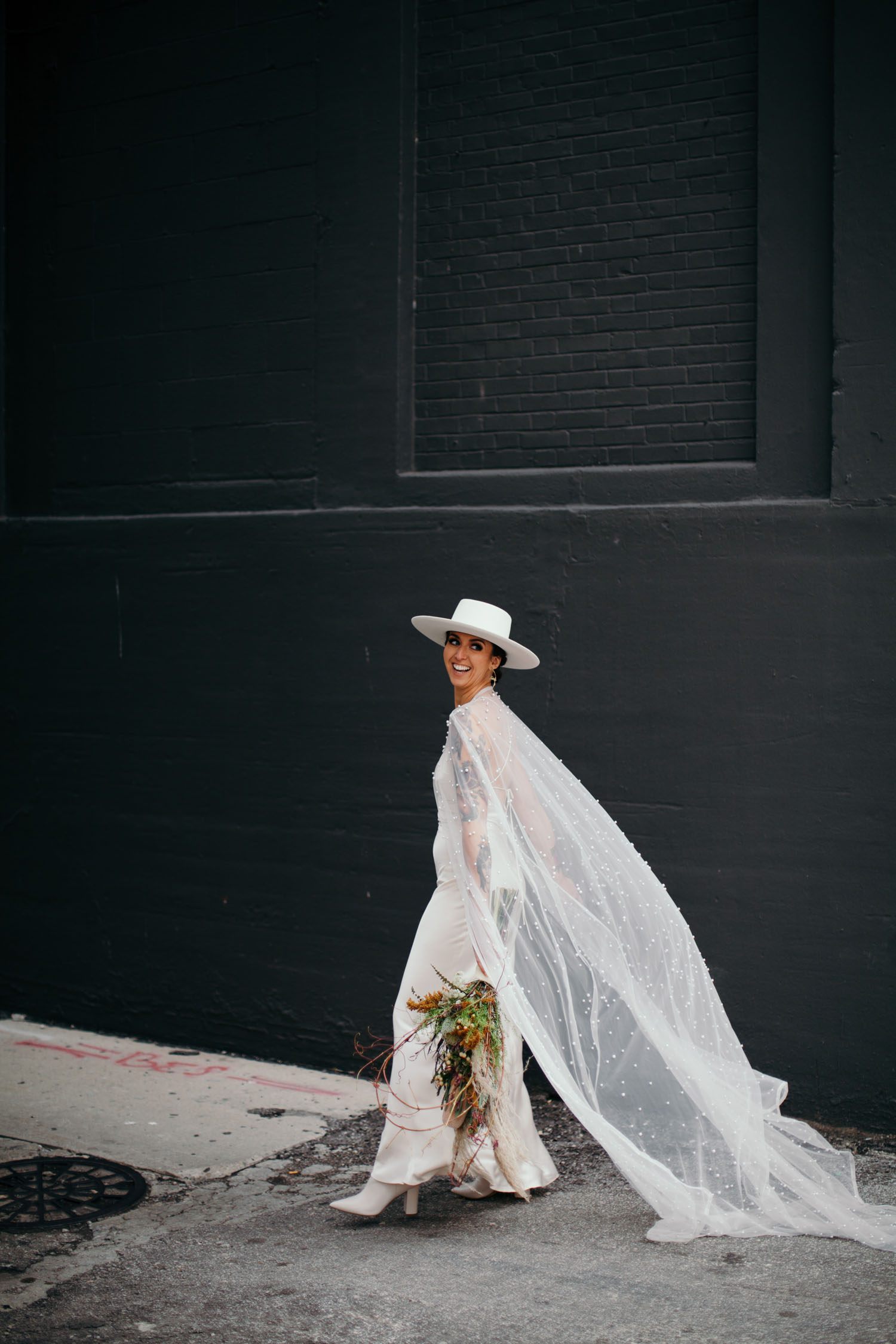 Pearl Bridal Cape and Hat