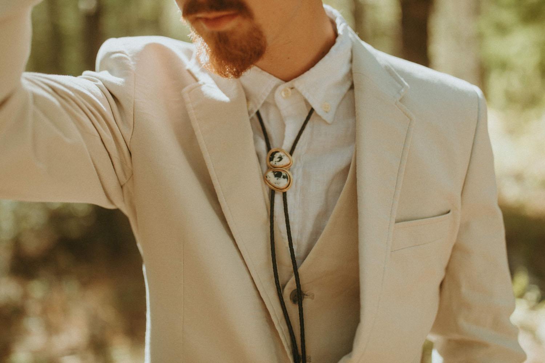 grooms bolo tie attire