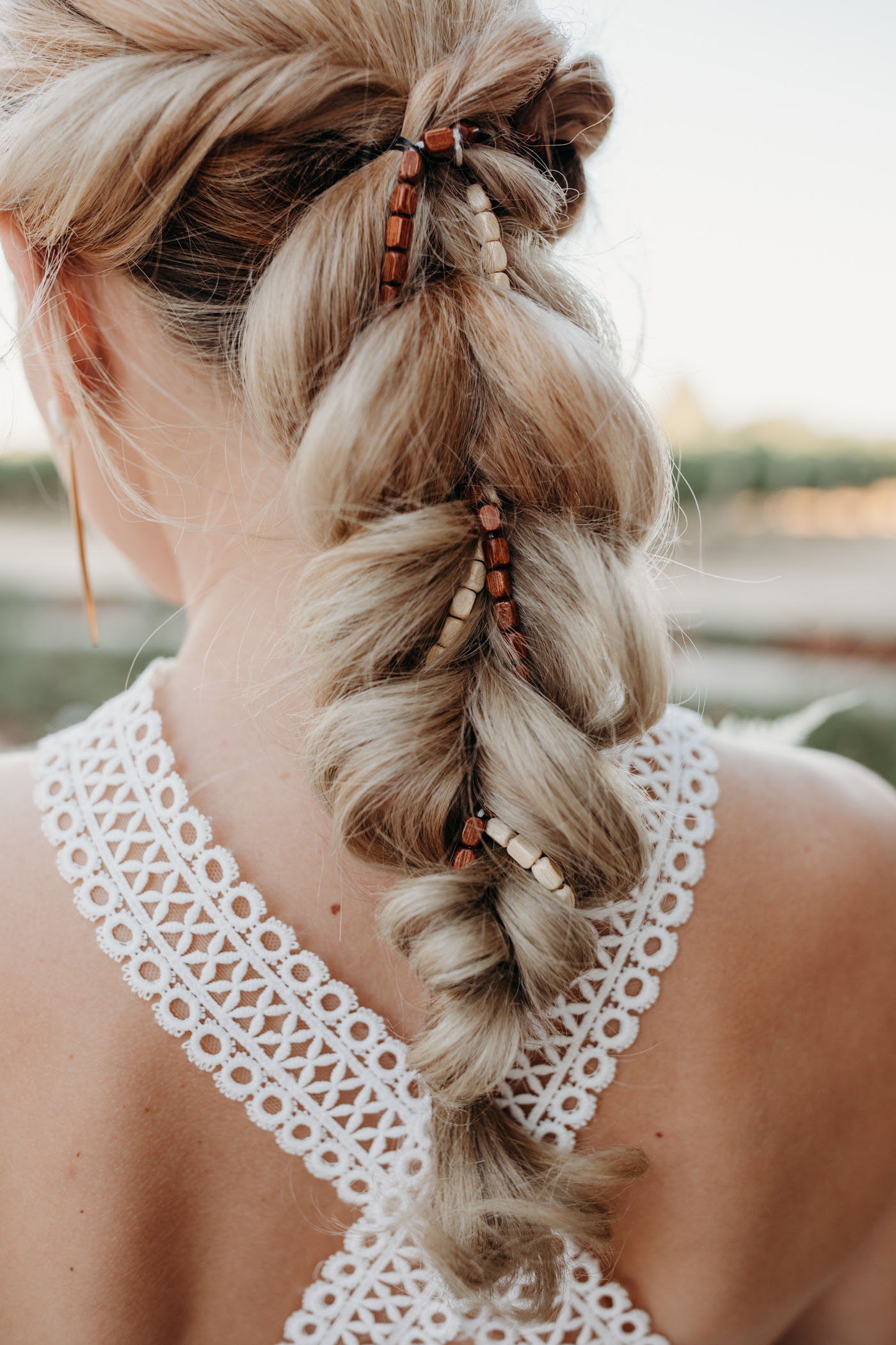 Pearl bridal braid