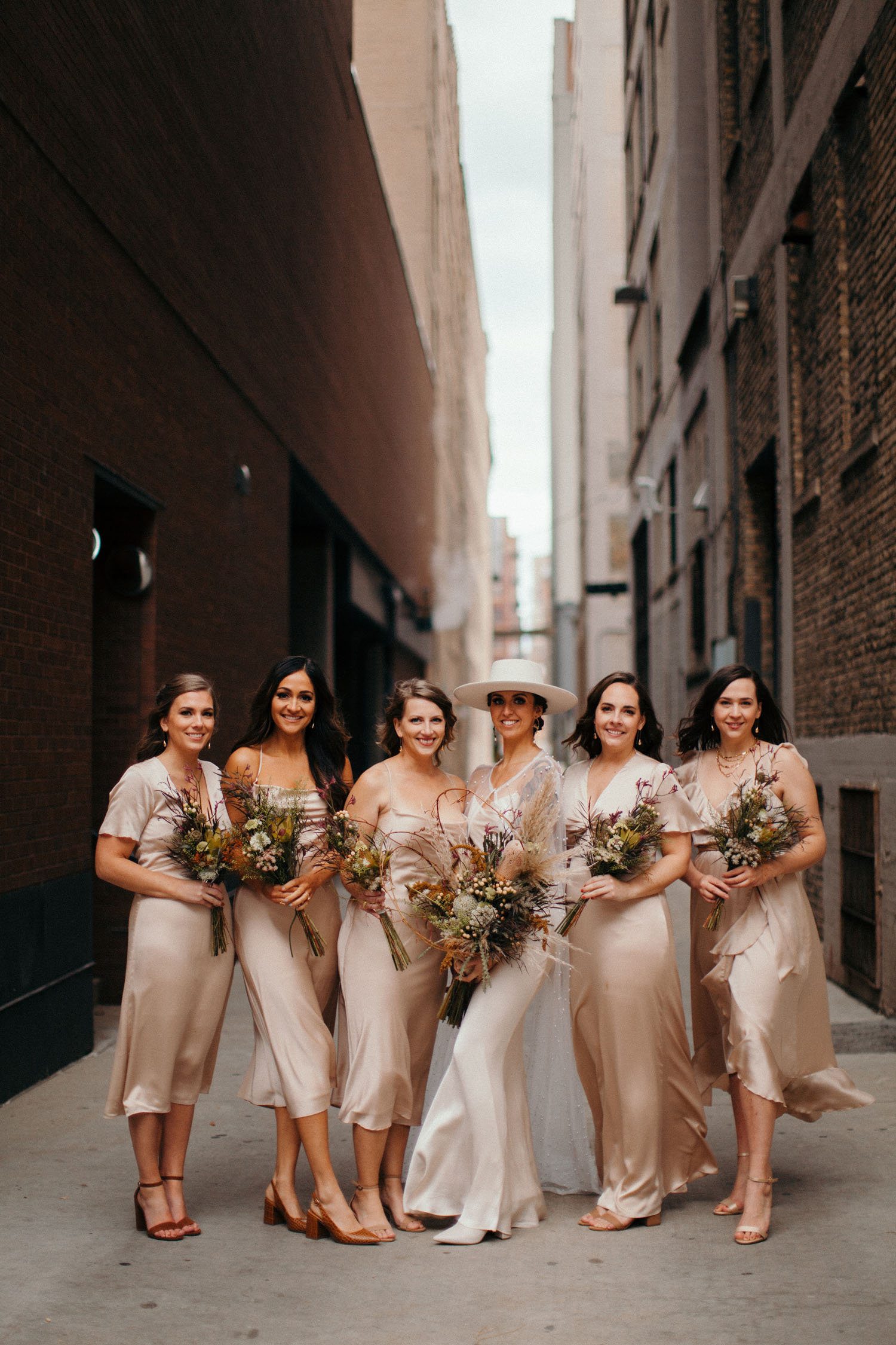 satin bridesmaids dresses