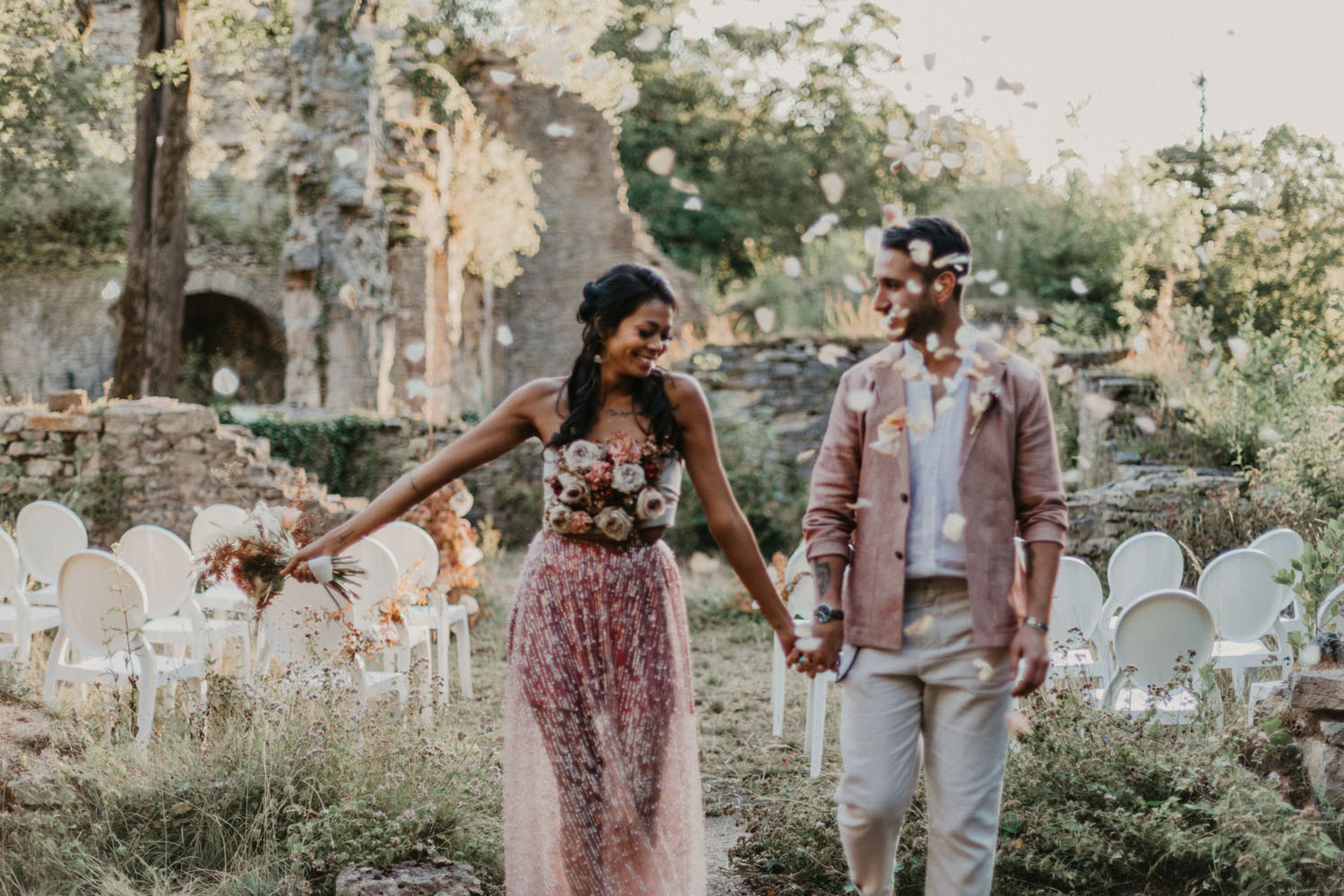 French Castle Terracotta Wedding Inspiration