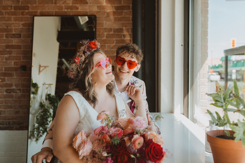 bride groom heart sunglasses