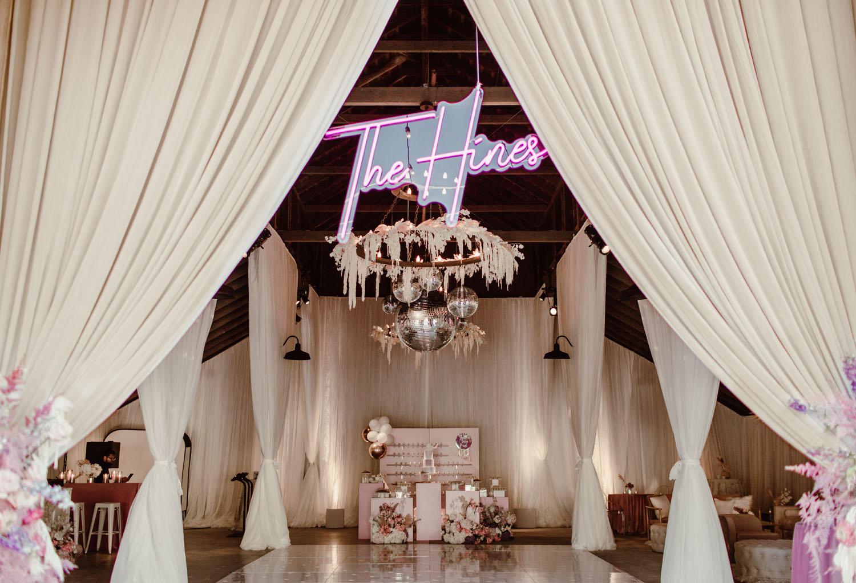wedding neon signage
