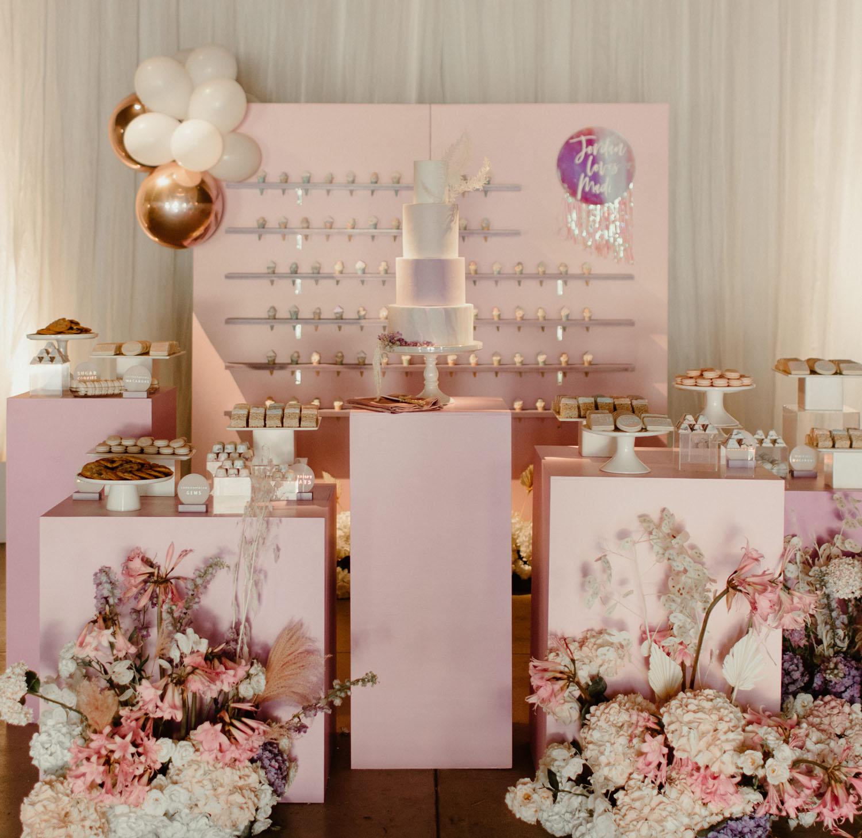 modern dessert display