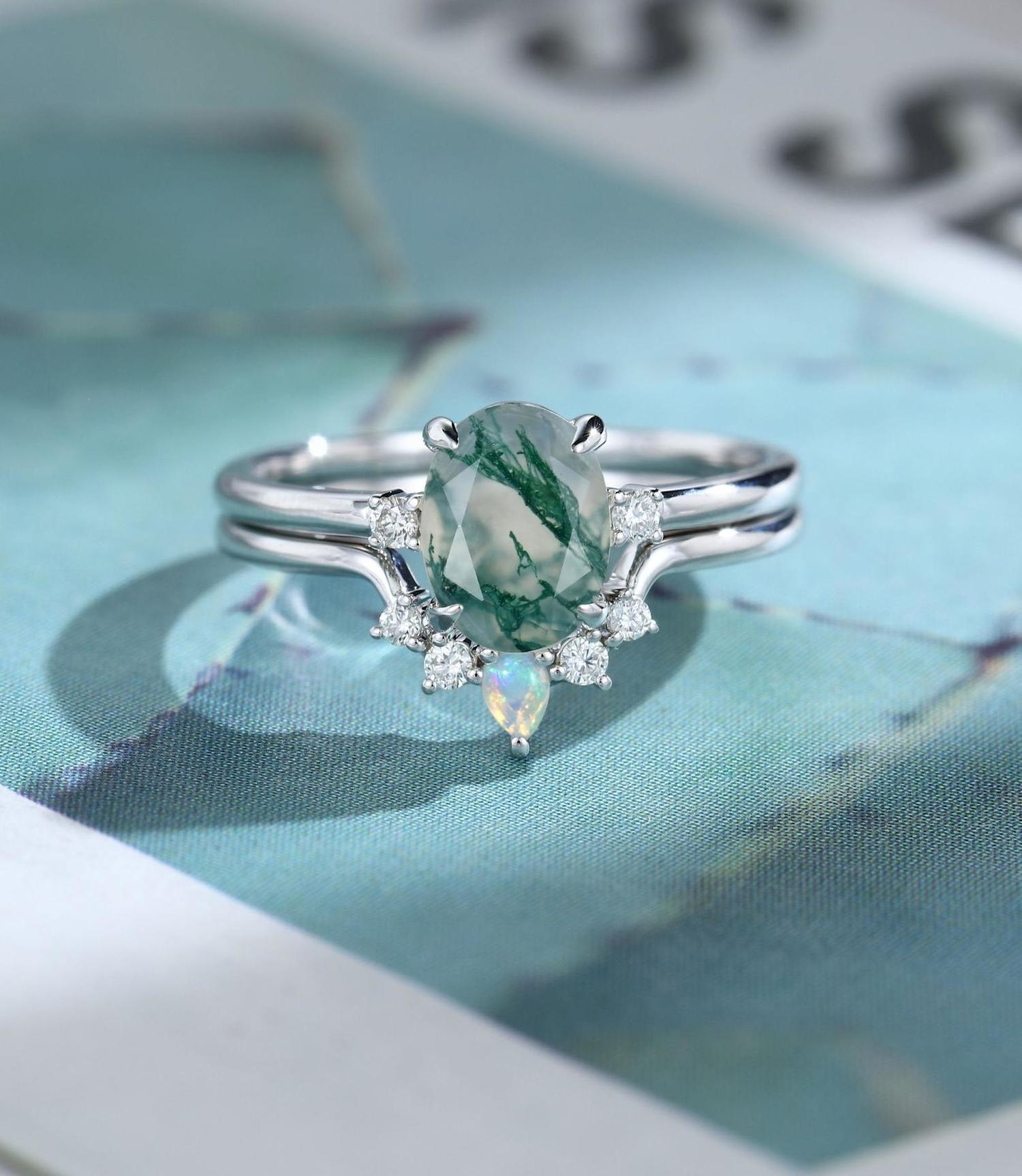 Blue Etsy Engagement Rings