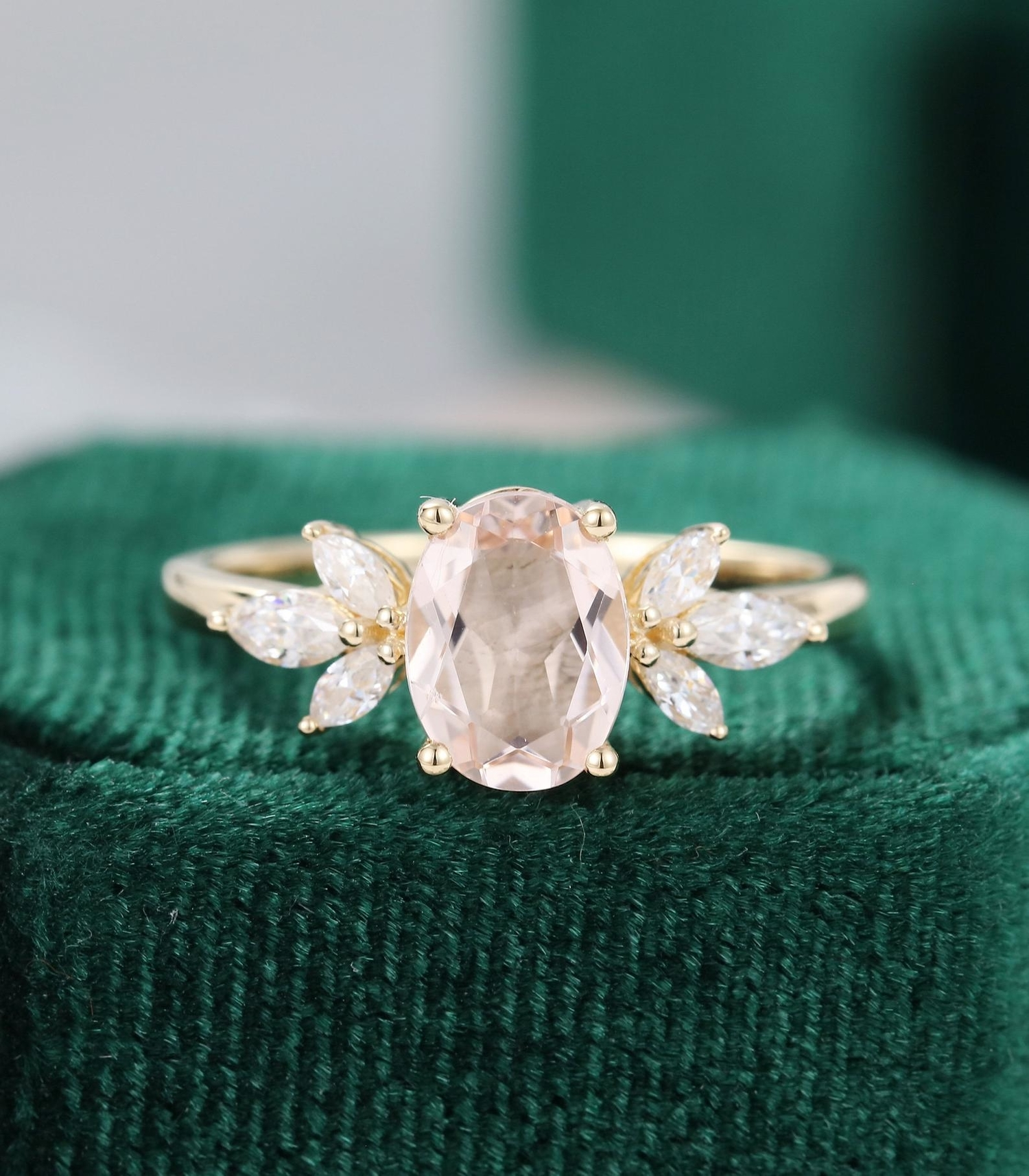 Oval Engagement Ring from Etsy