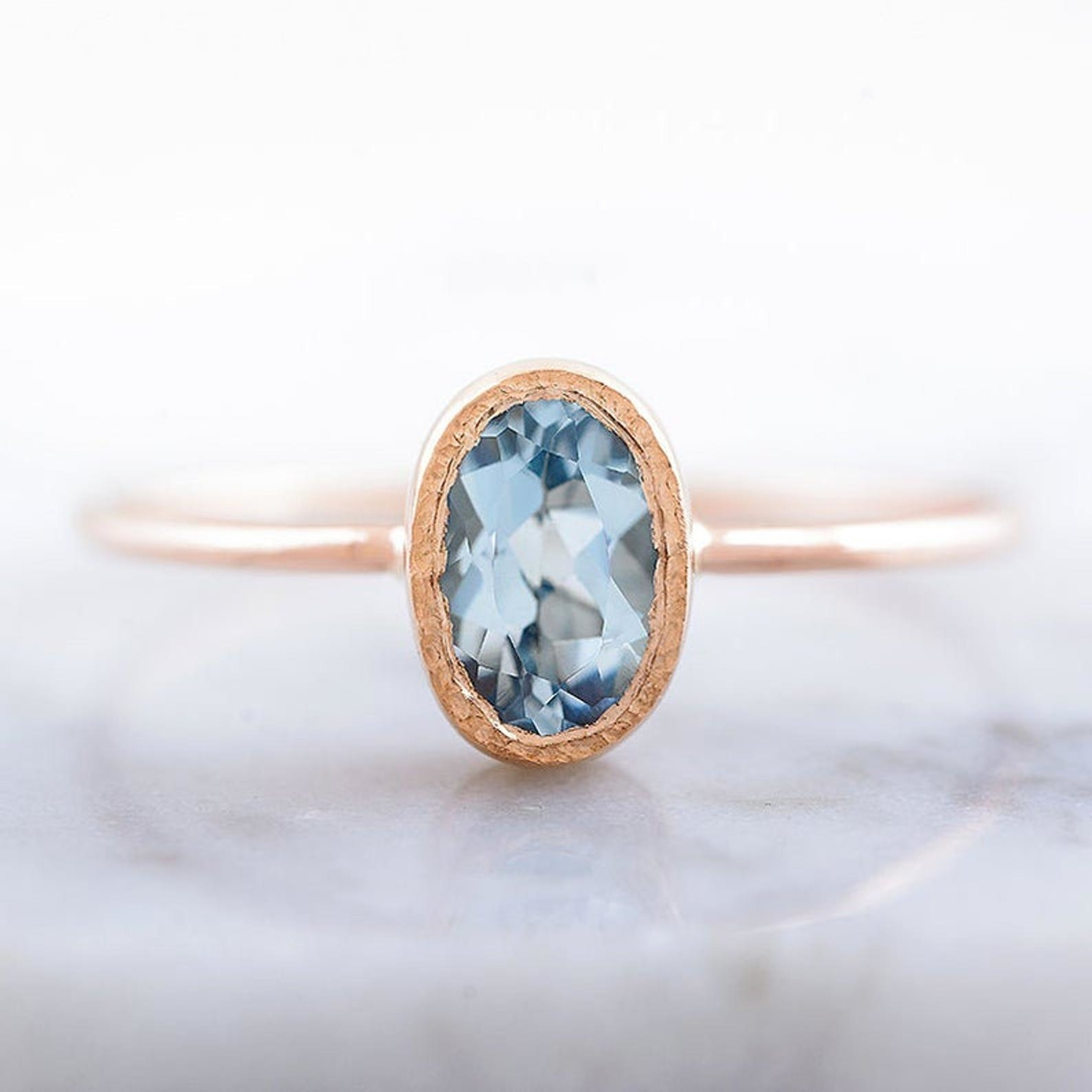 Blue engagement ring from Etsy