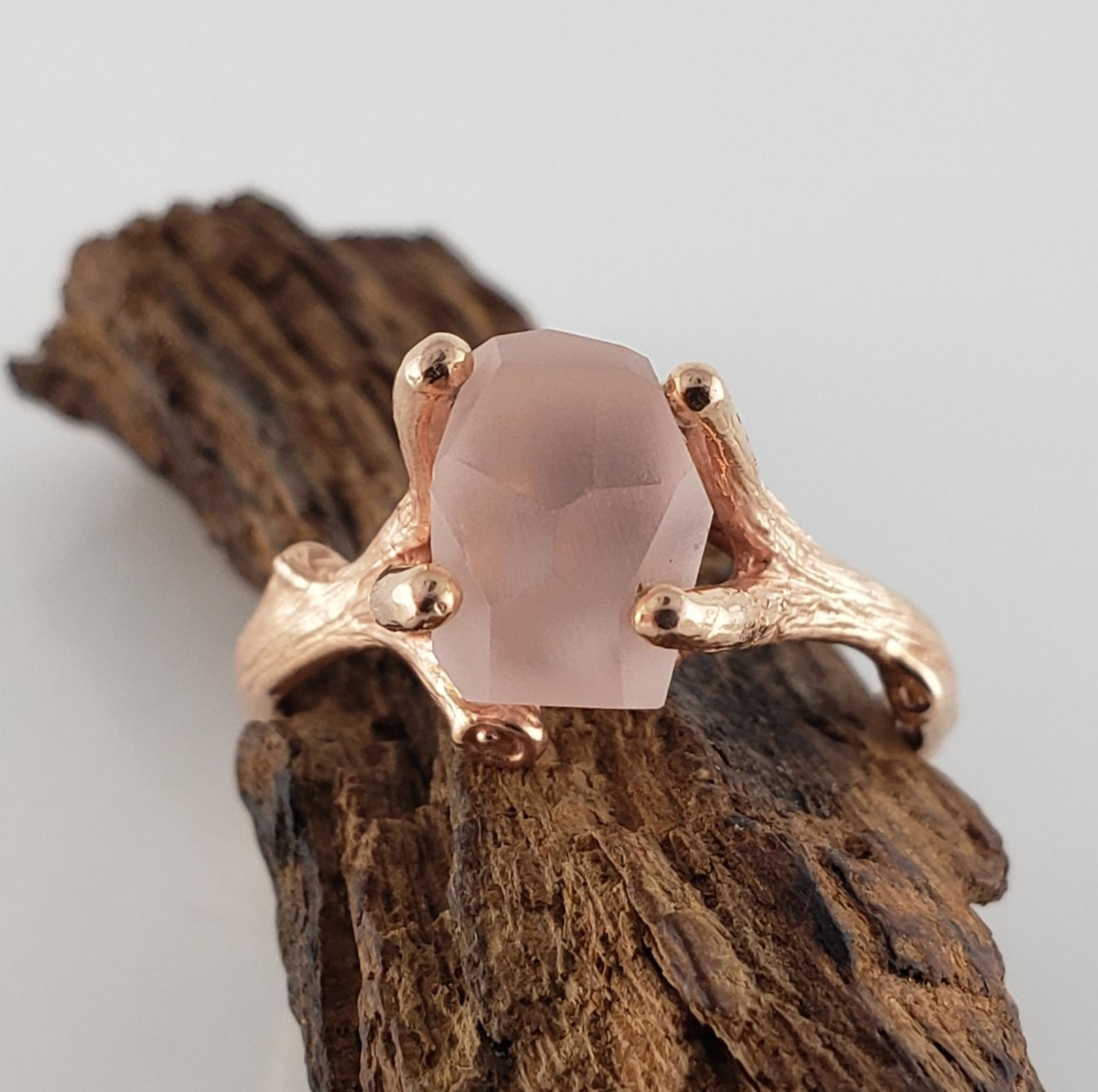 Pink Etsy Engagement Ring