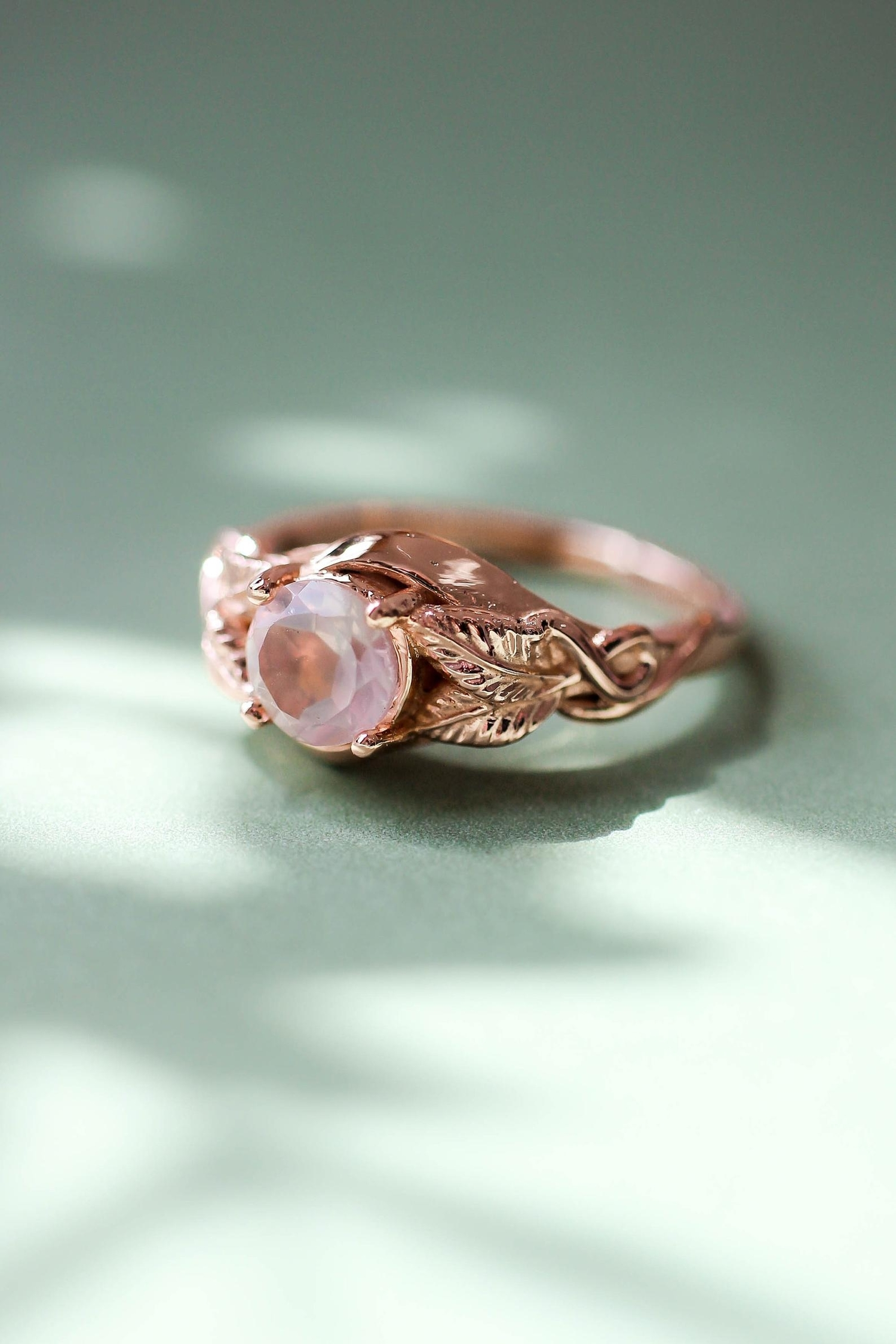 Pink and Gold Engagement Rings