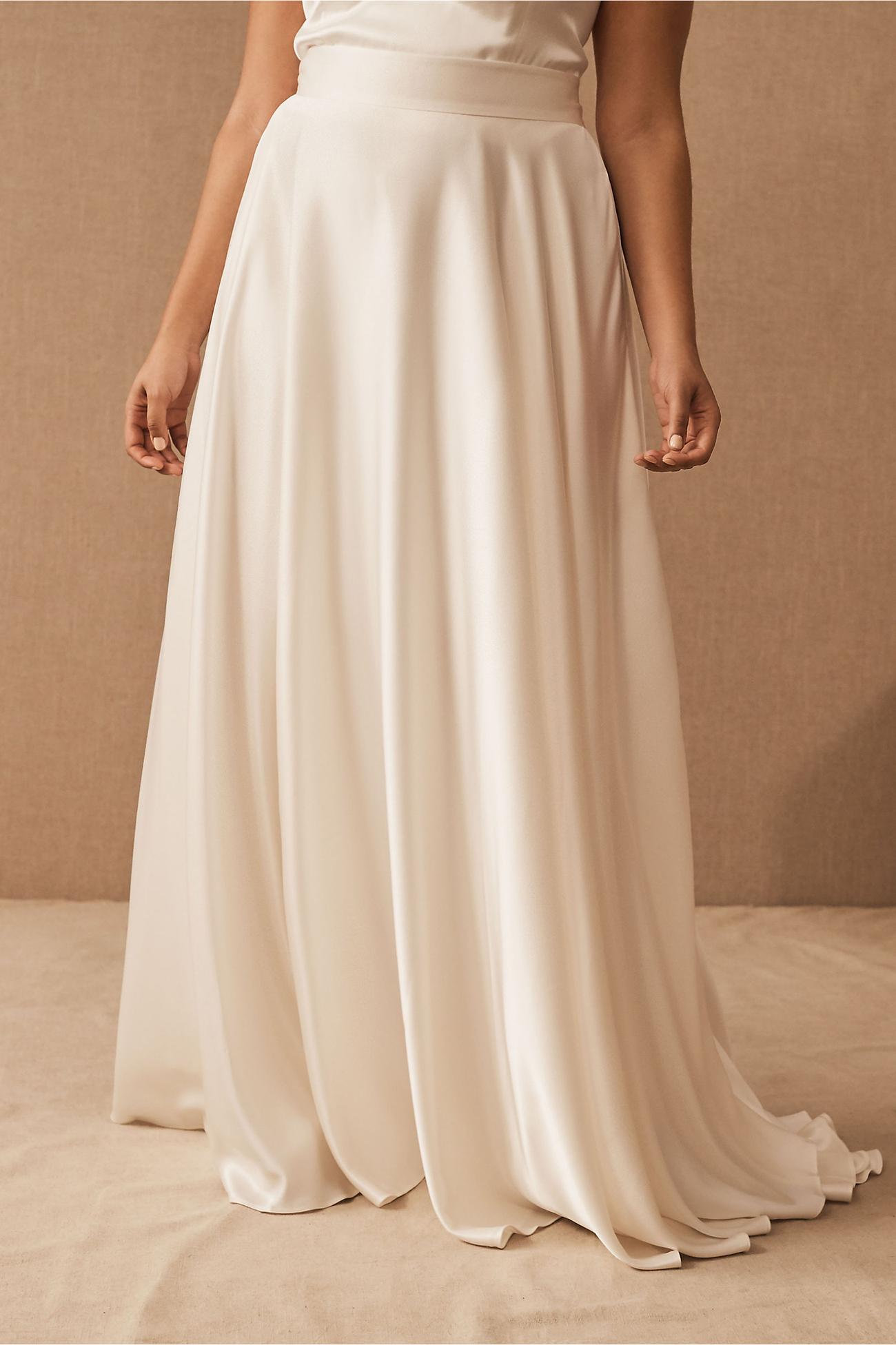 bhldn bridal skirt