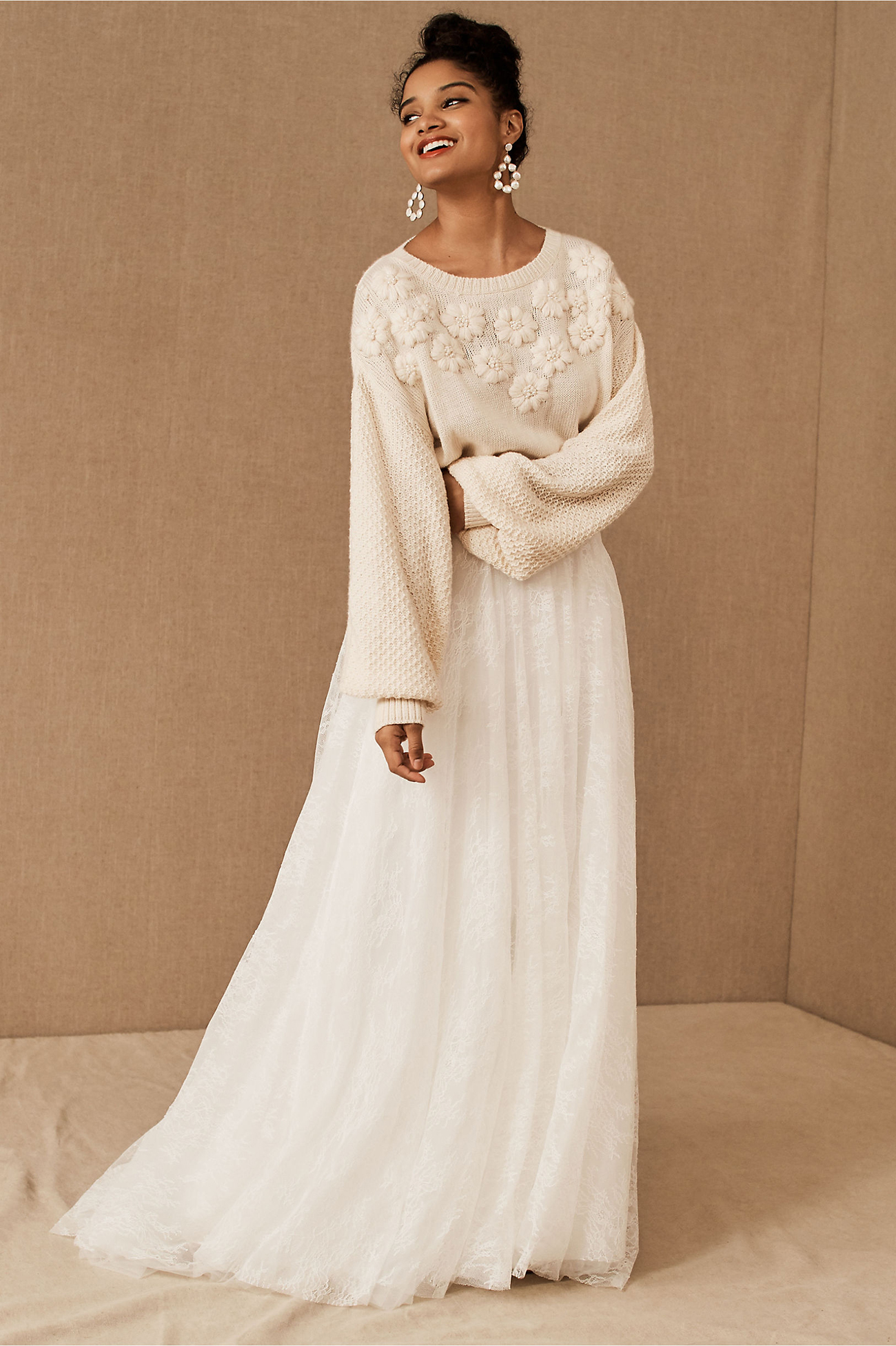 Bridal sweater and skirt